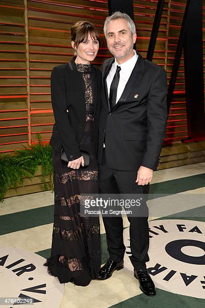 Sheherazade Goldsmith and director Alfonso Cuaron attend the 2014 Vanity Fair Oscar Party hosted by Graydon Carter on March 2 2014 in West Hollywood...