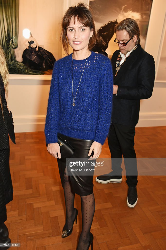 Sheherazade Goldsmith attends a private view of 'Vogue 100: A Century of Style' hosted by Alexandra Shulman and Leon Max at the National Portrait Gallery on February 9, 2016 in London, England.