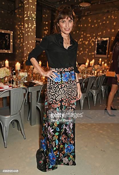 Sheherazade Goldsmith attends an intimate dinner party hosted by Alice Temperley to celebrate 15 years of Temperley at GWP Studio on November 12 2015...
