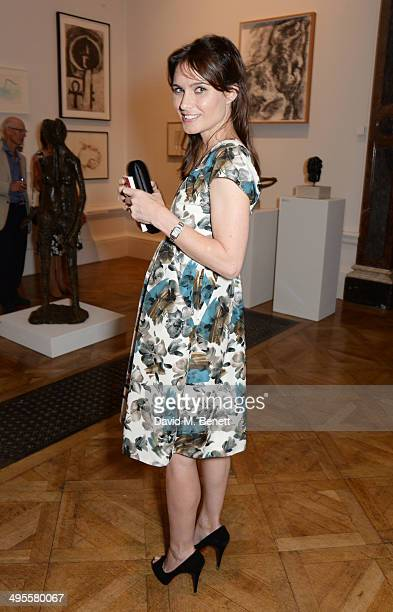 Sheherazade Goldsmith attends the Royal Academy Summer Exhibition preview party at the Royal Academy of Arts on June 4 2014 in London England