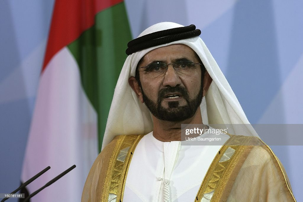 GERMANY BERLIN Sheik Mohammed bin RASHID Al MAKTOUM Premierminister of the United Arab Emirates during his state visit in Germany