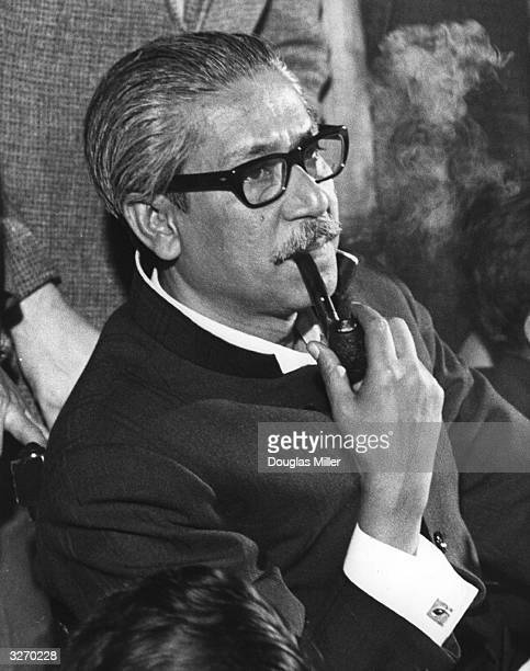 Sheik Mujibur Rahman Bangladesh President in London in 1972 He was killed in a dawn coup in 1975