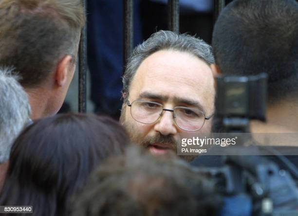 Sheik Omar Bakri Mohammed outside of the Finsbury Park Mosque London where a controversial conference on the September 11 terror attacks was at the...