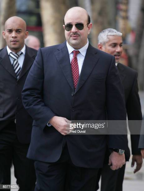 Sheikh Abdullah Bin Hamad Bin Isa al Khalifa attends court case against Michael Jackson at High Court on November 21 2008 in London England