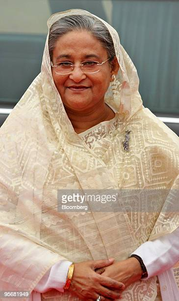 Sheikh Hasina Wajed Bangladesh's prime minister arrives at the Indian presidential palace in New Delhi India on Monday Jan 11 2010 India and...