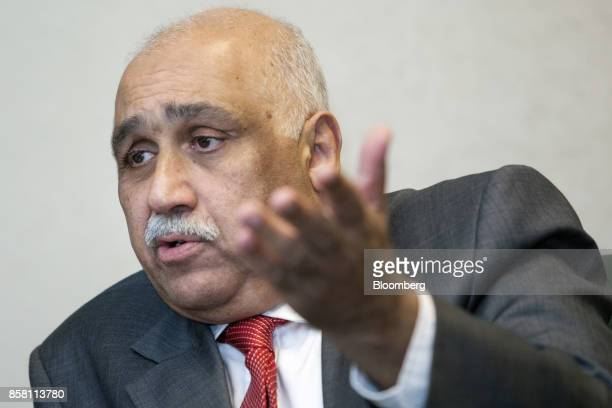 Sheikh Imran Ul Haque chief executive officer of Pakistan State Oil Ltd speaks during an interview in Karachi Pakistan on Wednesday Sept 27 2017...