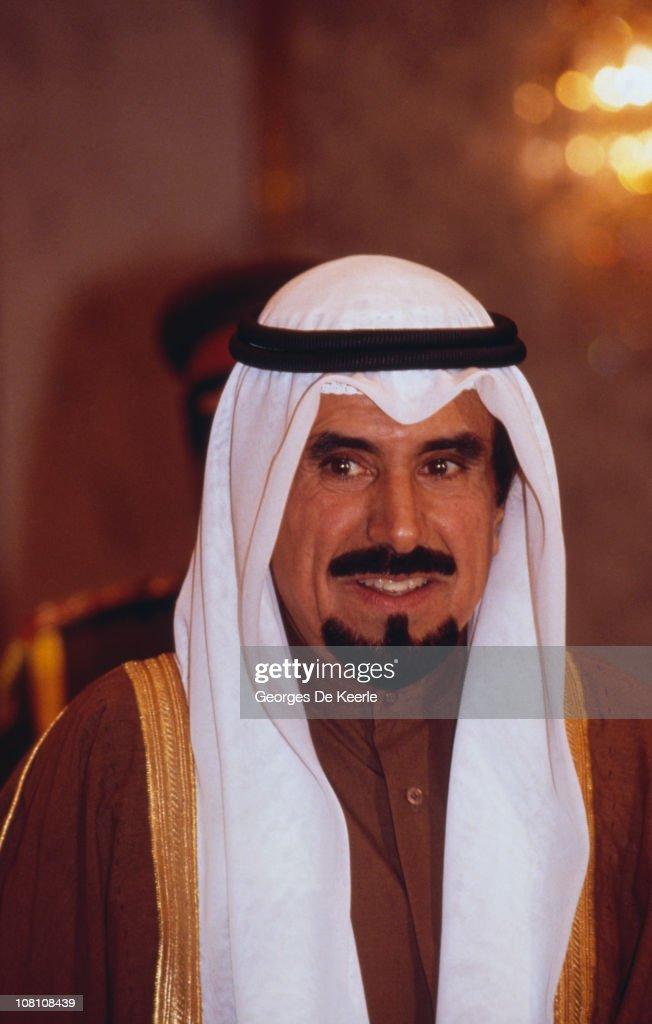 Sheikh Jaber AlAhmad AlJaber AlSabah the Emir of Kuwait in Iraq 1987