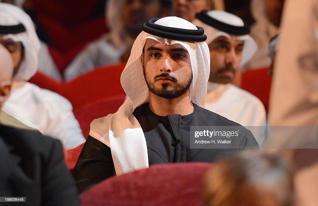 Sheikh Mansour bin Mohammed bin Rashid al-Maktoum attends the Opening Night ceremony during day one of the 9th Annual Dubai International Film Festival held at the Madinat Jumeriah Complex on December 9, 2012 in Dubai, United Arab Emirates.