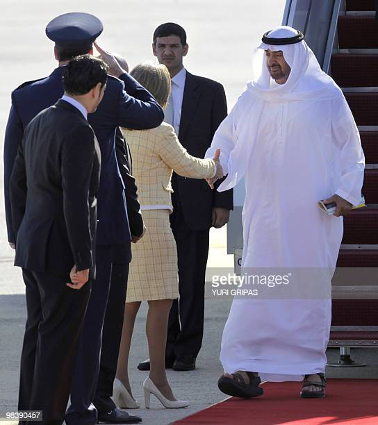 Sheikh Mohamed bin Zayed Al Nahyan Crown Prince of Abu Dhabi and Deputy Supreme Commander of the United Arab Emirates Armed Forces arrives at the...