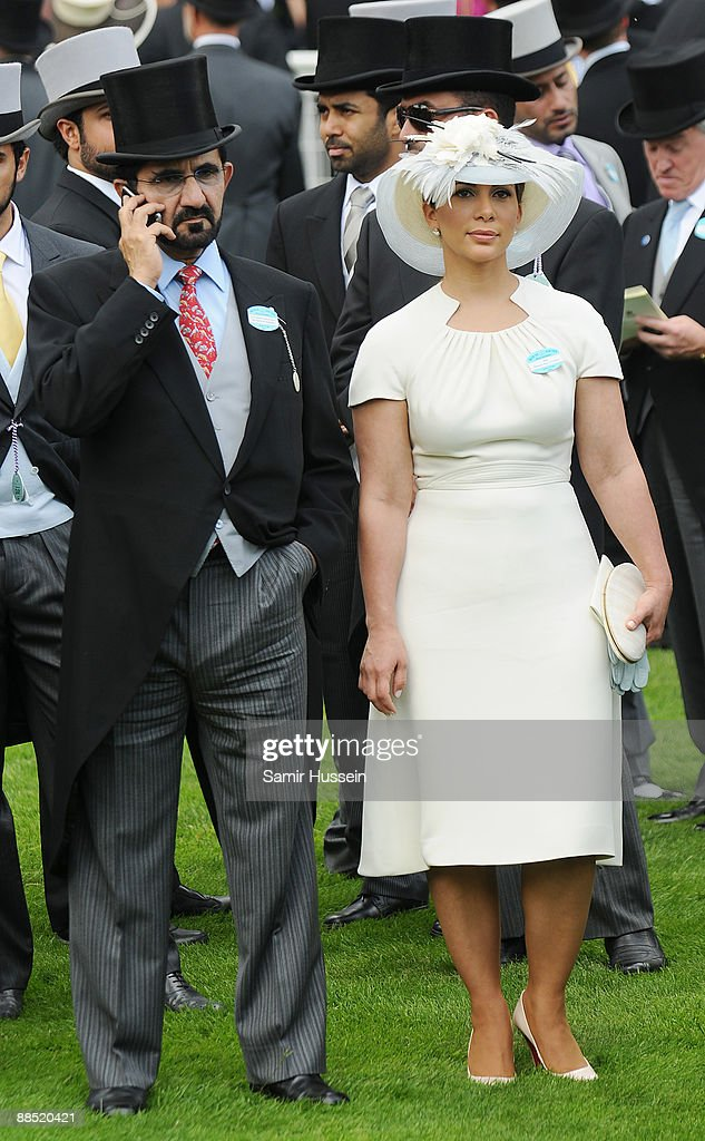 Sheikh Mohammed bin Rashed Al Maktoum and Princess Haya Bint Al Hussein attend the first day of Royal Ascot 2009 at Ascot Racecourse on June 16, 2009 in Ascot, England.