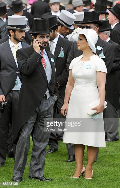 Sheikh Mohammed bin Rashed Al Maktoum Vice President and Prime Minister of the UAE and Princess Haya Bint Al Hussein attend the first day of Royal...