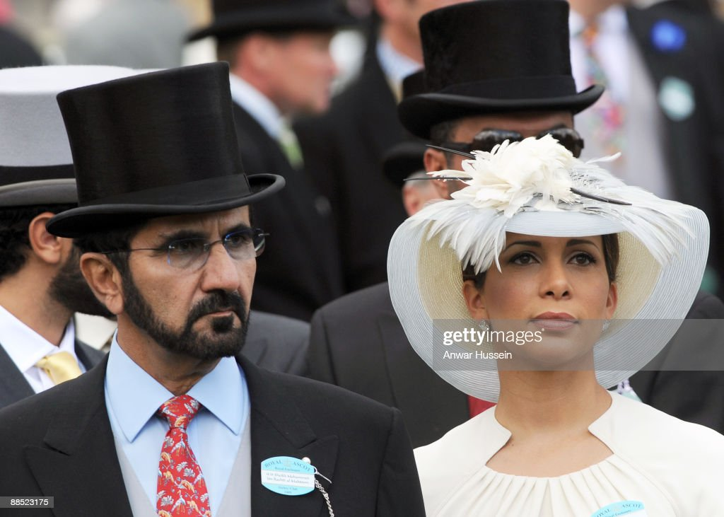 Sheikh Mohammed bin Rashed Al Maktoum, Vice President and Prime Minister of the UAE, and Princess Haya Bint Al Hussein attend the first day of Royal Ascot on June 16, 2009 in Ascot, England.