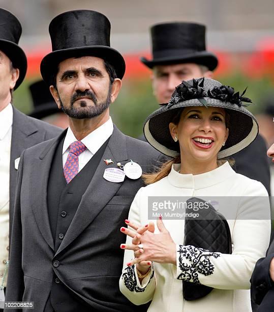 HH Sheikh Mohammed Bin Rashid Al Maktoum and HRH Princess Haya Bint Al Hussein of Jordan attend day four of Royal Ascot at Ascot Racecourse on June...