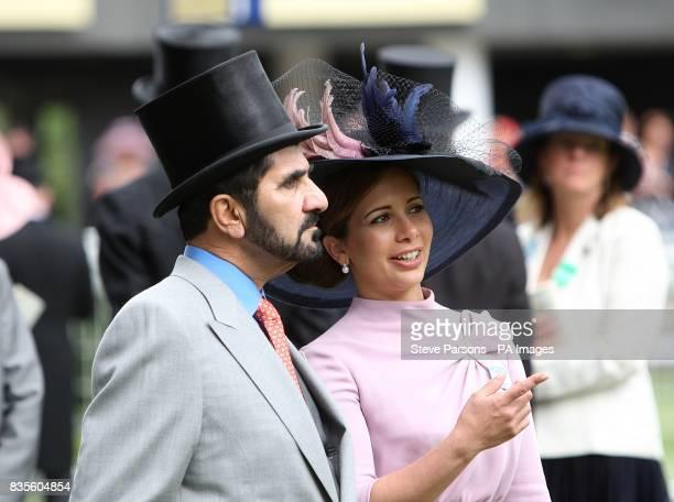 Sheikh Mohammed Bin Rashid Al Maktoum and HRH Princess Haya Bint Al Hussein at Ascot Racecourse Berkshire