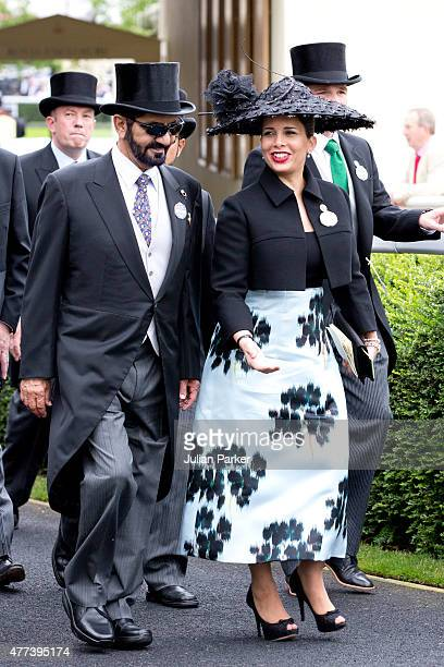 Sheikh Mohammed Bin Rashid Al Maktoum and Princess Haya bint Al Hussein attends the first day of The Royal Ascot race meeting on June 16th 2015 in...