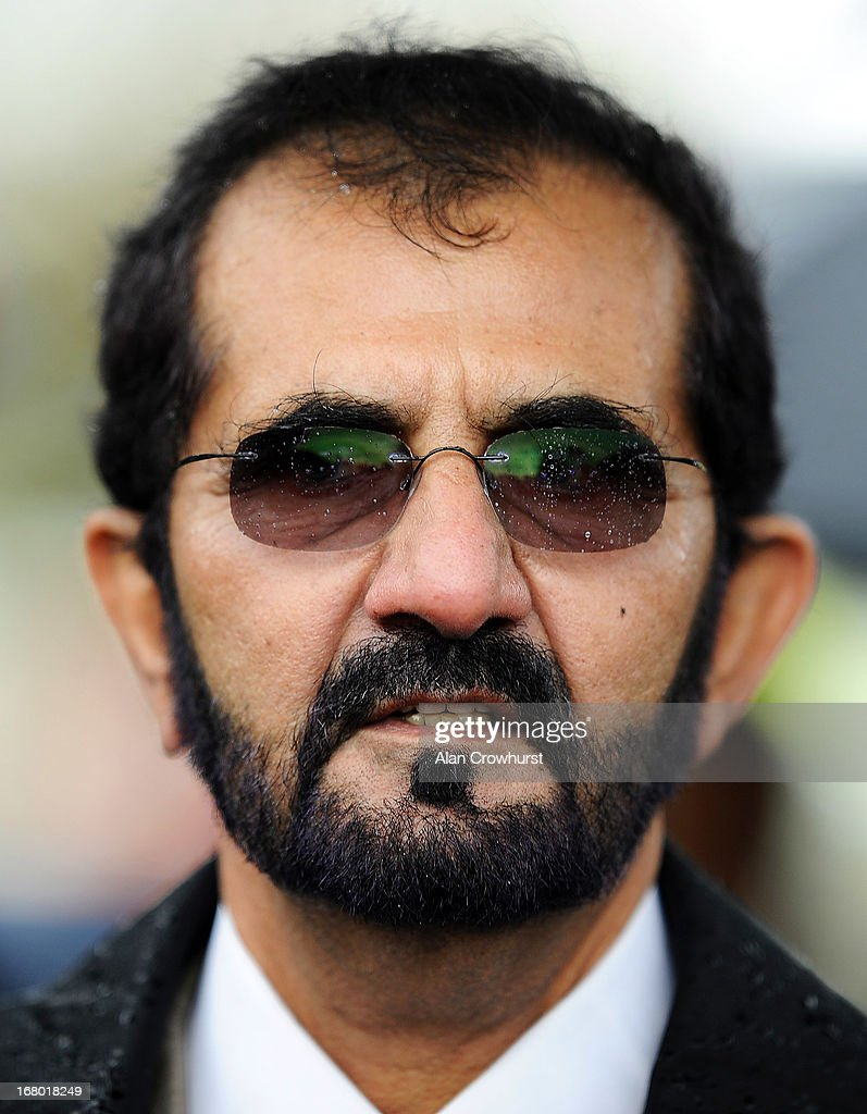 Sheikh Mohammed bin Rashid Al Maktoum at Newmarket racecourse on May 04, 2013 in Newmarket, England.