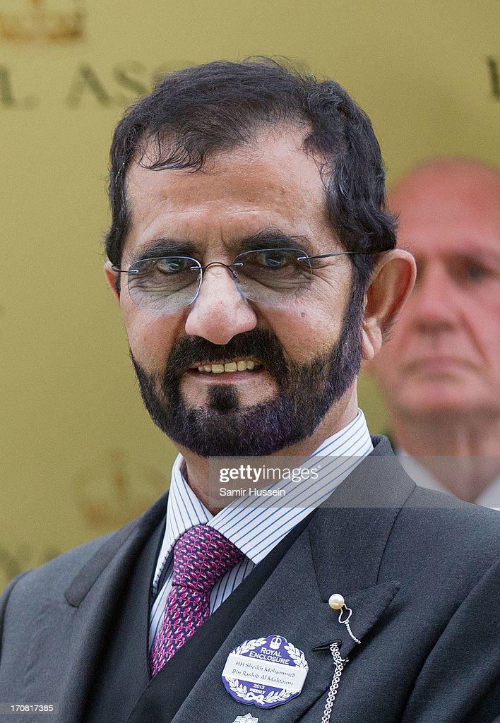 Sheikh Mohammed bin Rashid Al Maktoum attends day 1 of Royal Ascot at Ascot Racecourse on June 18, 2013 in Ascot, England.
