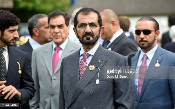 Sheikh Mohammed bin Rashid Al Maktoum attends day two of the three day Festival in Newmarket the home of horseracing at Newmarket Racecourse on July...