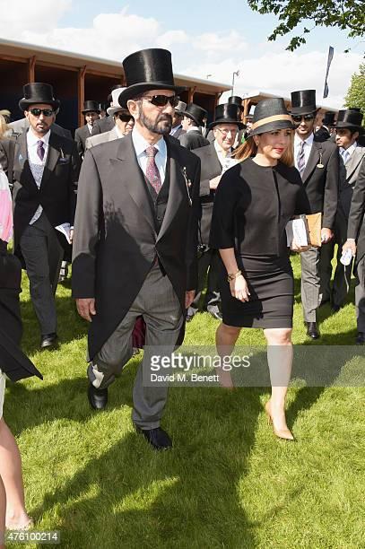 Sheikh Mohammed bin Rashid Al Maktoum attends Derby Day during the Investec Derby Festival at Epsom Racecourse on June 6 2015 in Epsom England