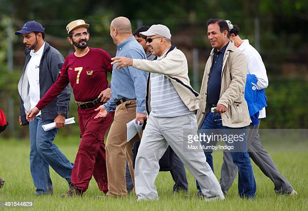 Sheikh Mohammed bin Rashid Al Maktoum attends the Royal Windsor Endurance event on day 3 of the Royal Windsor Horse Show in Windsor Great Park on May...