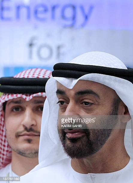 Sheikh Mohammed bin Zayed alNahayan Crown Prince of Abu Dhabi tours the World Future Energy Summit exhibition in the Emirati capital on Januray 18...