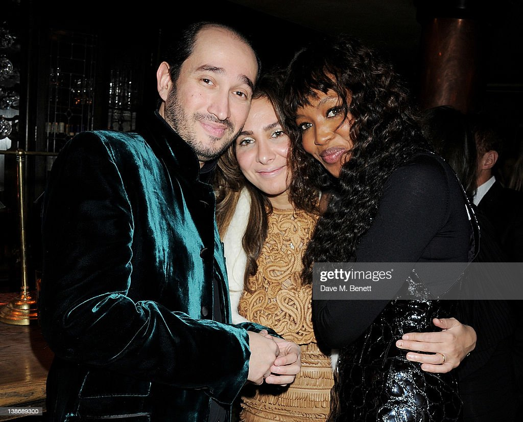 Sheikh Mohammed Youseef El Khereiji (L) and Naomi Campbell (R) attend The Weinstein Company Dinner Hosted By Grey Goose in celebration of BAFTA at Dean Street Townhouse on February 10, 2012 in London, England.
