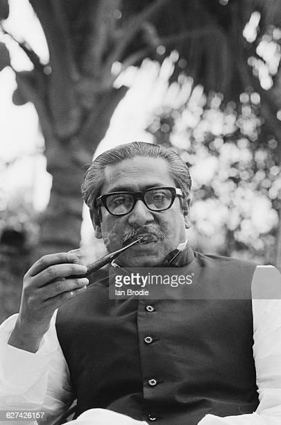 Sheikh Mujibur Rahman the founding leader of Bangladesh circa April 1971 Mujib became the first President of Bangladesh on 11th April 1971