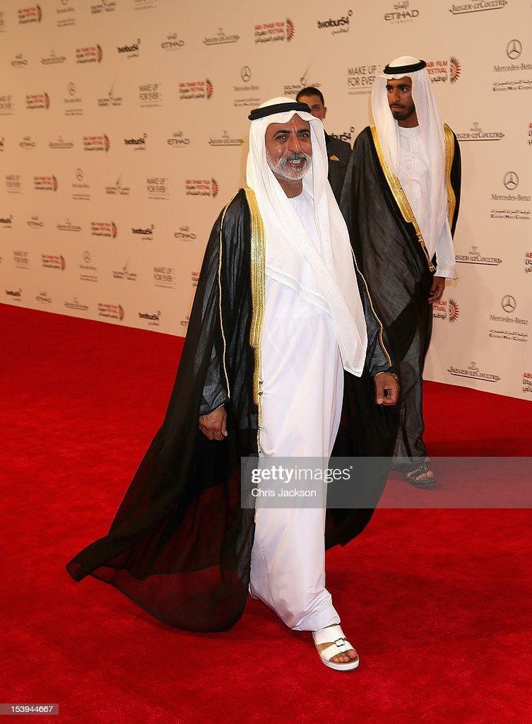 Sheikh Nahyan bin Mubarak attends day one of the Abu Dhabi Film Festival 2012 at Emirates Palace on October 11, 2012 in Abu Dhabi, United Arab Emirates.