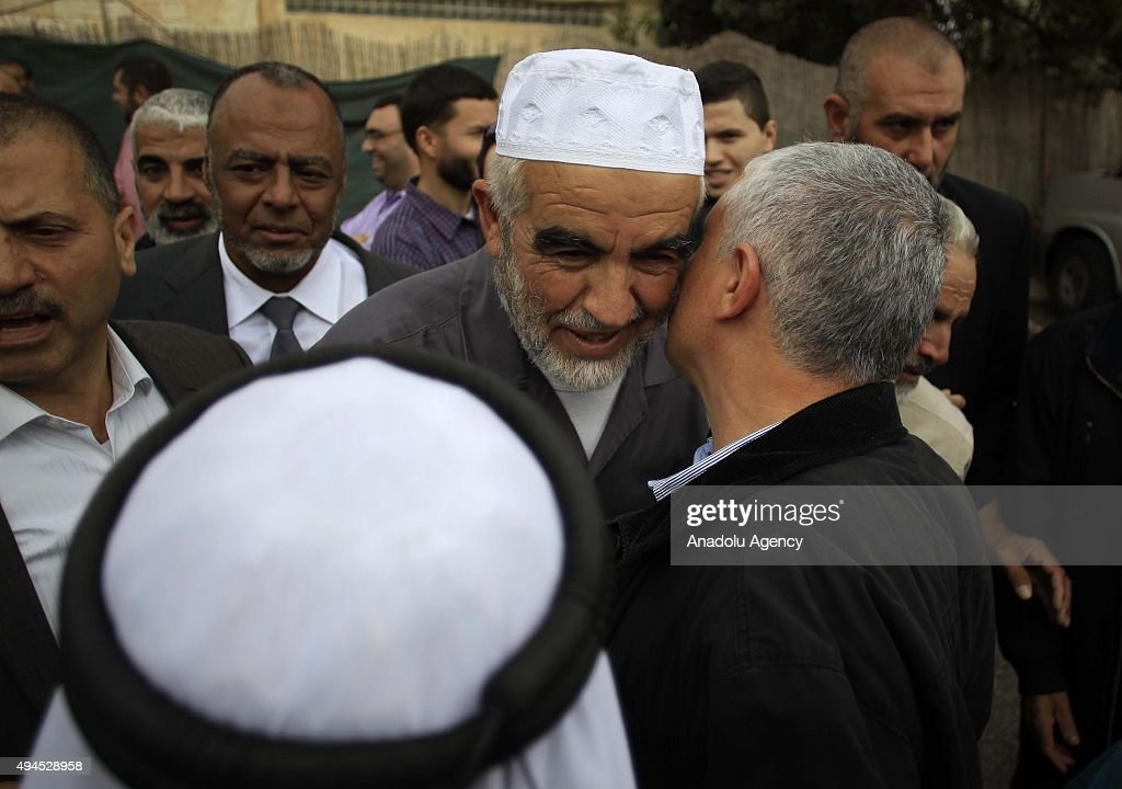 <a gi-track='captionPersonalityLinkClicked' href=/galleries/search?phrase=Sheikh+Raed+Salah&family=editorial&specificpeople=2108548 ng-click='$event.stopPropagation()'>Sheikh Raed Salah</a> (C), the leader of Islamic movement in the 1948 Palestine, are seen with the Palestinians supporting him after attending trial at the Jerusalem Regional Court on October 27, 2015. An Israeli court has sentenced <a gi-track='captionPersonalityLinkClicked' href=/galleries/search?phrase=Sheikh+Raed+Salah&family=editorial&specificpeople=2108548 ng-click='$event.stopPropagation()'>Sheikh Raed Salah</a> to 11 months in jail on charges of 'incitement'.