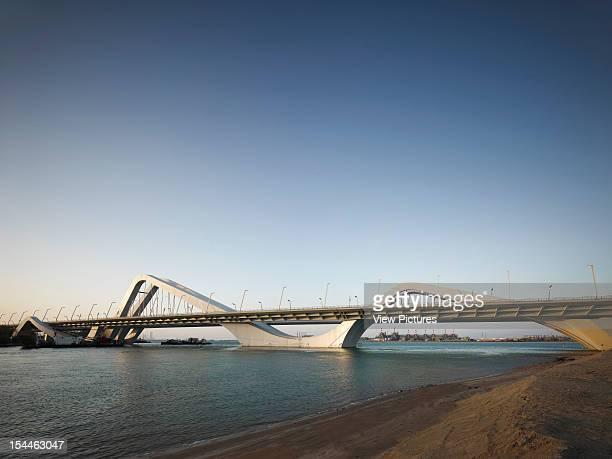 Sheikh Zayed Bridge Zaha Hadid Abu Dhabi United Emirates Daytime Elevation Of Main Span Linking Abu Dhabi Island With Gulf South Shore Zaha Hadid...