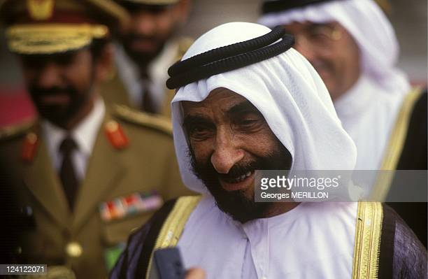 Sheikh Zayed In Paris France On September 09 1991 Sheikh Zayed bin Sultan alNahyan of Abu Dhabi