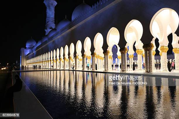 Sheikh Zayed Mosque at dusk, Abu Dhabi