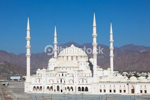 Exterior: Sheikh Zayed Mosque In Fujairah Uae Stock Photo