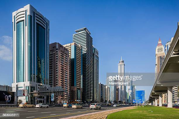 Sheikh Zayed road and some skyscrapers