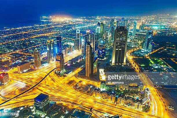 Sheikh Zayed Road Skyline of Dubai Financial District