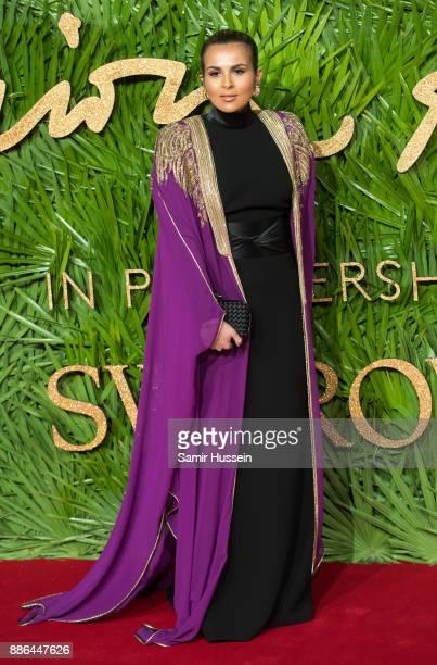 Sheikha Aisha Al Thani attends The Fashion Awards 2017 in partnership with Swarovski at Royal Albert Hall on December 4 2017 in London England