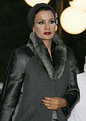 Sheikha Moza Wife Qatari Emir Hamad bin Khalifa alThani arrives with her husband to attend the official launching of Damascus being named the 2008...