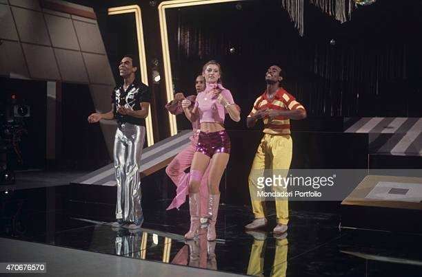 'Sheila and B Devotion performing at the TV variety show Noi no The music band is formed by French singer Sheila and AfroAmerican musicians Dany Mac...