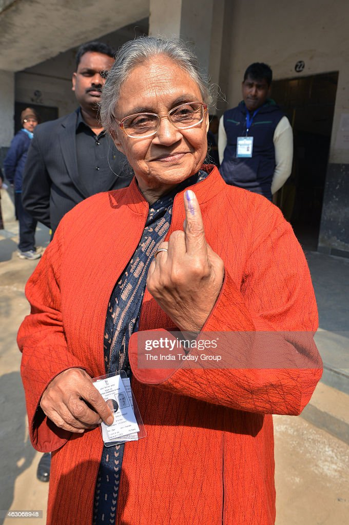<a gi-track='captionPersonalityLinkClicked' href=/galleries/search?phrase=Sheila+Dikshit&family=editorial&specificpeople=728110 ng-click='$event.stopPropagation()'>Sheila Dikshit</a> after casting the vote in New Delhi.