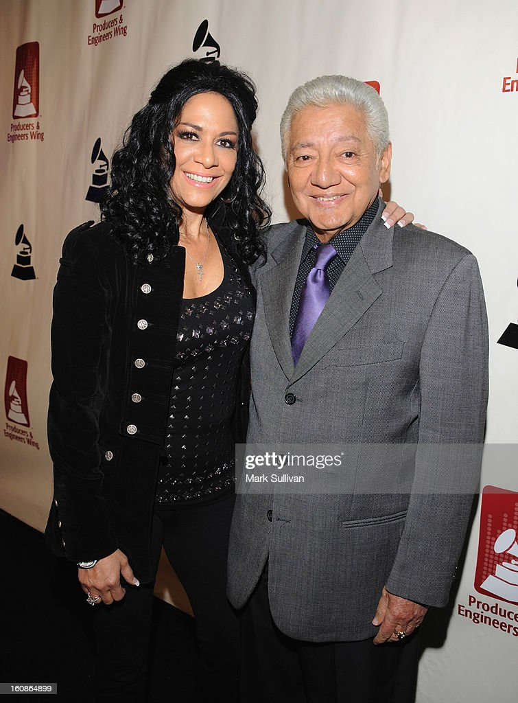 <a gi-track='captionPersonalityLinkClicked' href=/galleries/search?phrase=Sheila+E.&family=editorial&specificpeople=242934 ng-click='$event.stopPropagation()'>Sheila E.</a> (L) and Pete Escovedo attend The 55th Annual GRAMMY Awards - P&E Wing Event Honoring Quincy Jones And Al Schmitt held at The Village on February 6, 2013 in West Los Angeles, California.