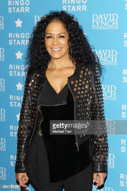Sheila E arrives at The David Lynch Foundation honors Ringo Starr with The 'Lifetime Of Peace Love Award' held at El Rey Theatre on January 20 2014...