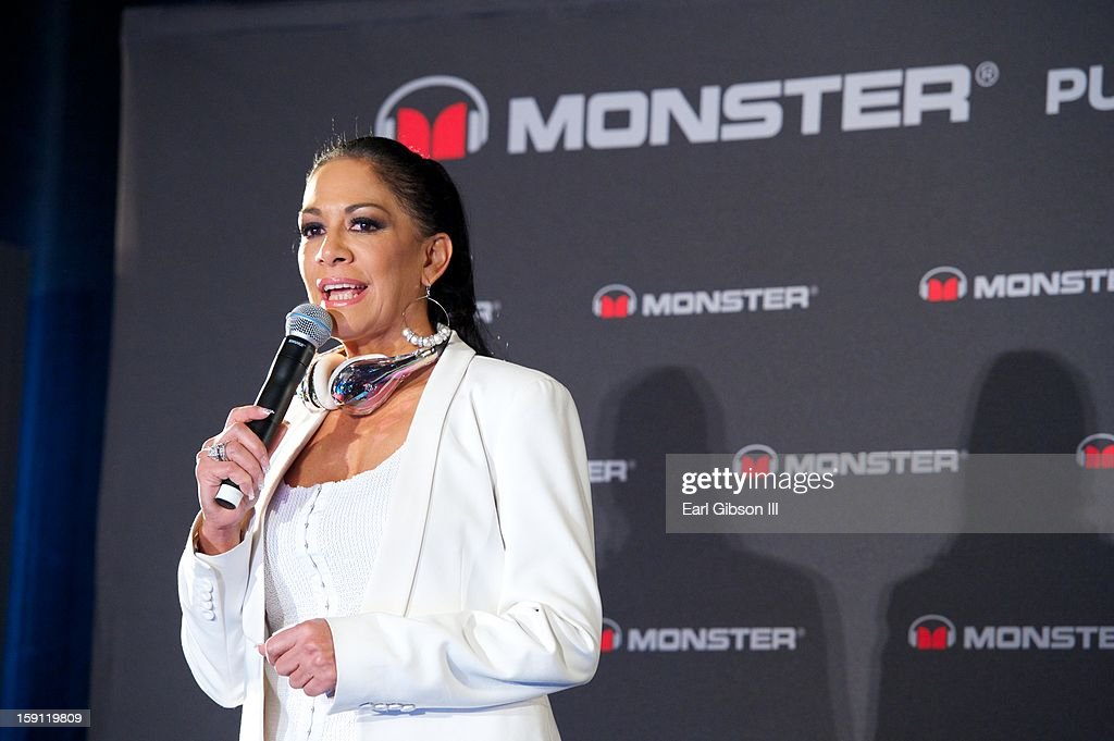 <a gi-track='captionPersonalityLinkClicked' href=/galleries/search?phrase=Sheila+E.&family=editorial&specificpeople=242934 ng-click='$event.stopPropagation()'>Sheila E.</a> attends the Monster Press Conference at the Mandalay Bay Convention Center on January 7, 2013 in Las Vegas, Nevada.