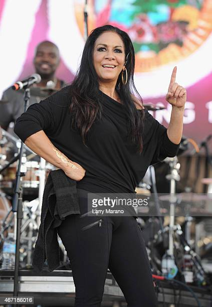 Sheila E performs onstage at the 10th Annual Jazz in The Gardens Celebrating 10 Years of Great Music at Sun Life Stadium on March 21 2015 in Miami...