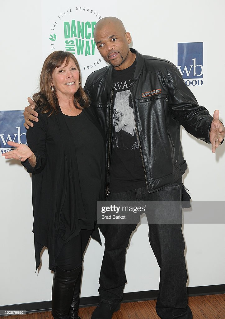 Sheila Jaffe(L) and Darryl 'DMC' Mcdaniels <<attends>> 'Dance This Way' Benefit Dance-A-Thon kick off party at WB Wood on February 28, 2013 in New York City.
