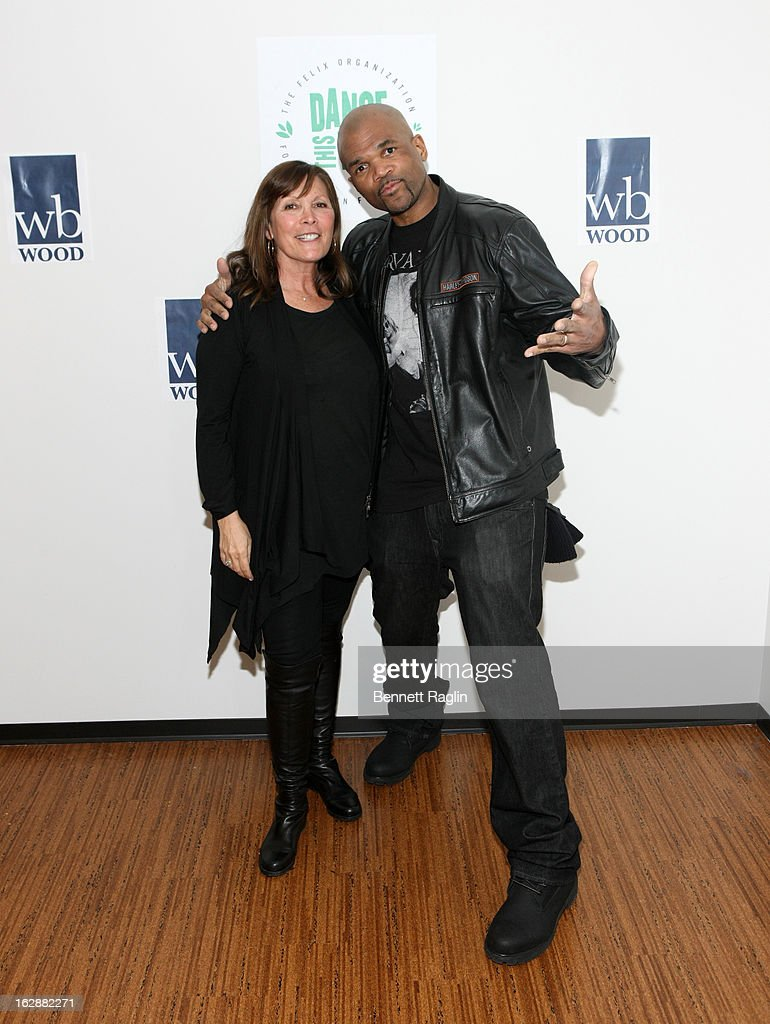 Sheila Jaffe and <a gi-track='captionPersonalityLinkClicked' href=/galleries/search?phrase=Darryl+McDaniels&family=editorial&specificpeople=175934 ng-click='$event.stopPropagation()'>Darryl McDaniels</a> attend 'Dance This Way' Benefit Dance-A-Thon kick off party at WB Wood on February 28, 2013 in New York City.