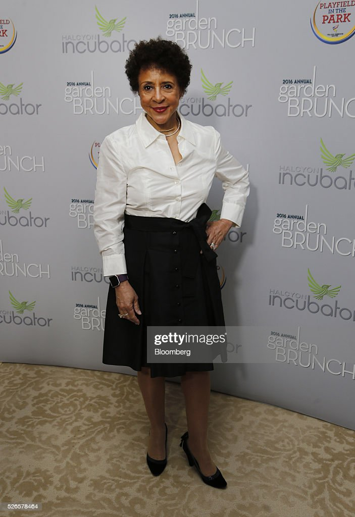 Sheila Johnson, co-founder of BET, attends the 23rd Annual White House Correspondents' Garden Brunch in Washington, D.C., U.S., on Saturday, April 30, 2016. The event will raise awareness for Halcyon Incubator, an organization that supports early stage social entrepreneurs 'seeking to change the world' through an immersive 18-month fellowship program. Photographer: Andrew Harrer/Bloomberg via Getty Images
