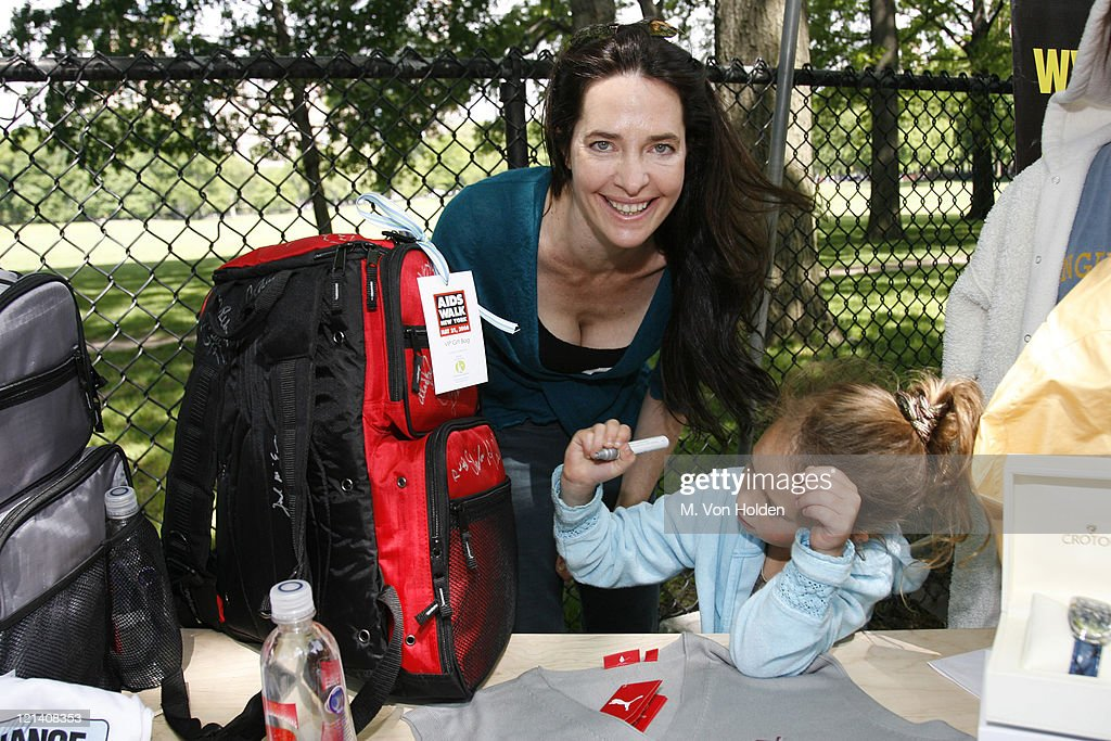Sheila Kelley and daughter during Celebrities show Support at AIDS Walk New York With Klein Creative Gift Bags - May 21, 2006 at Central Park in New York City, New York, United States.