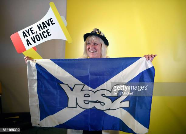 Sheila Kirk poses for a picture during the SNP spring conference on March 17 2017 in Aberdeen Scotland Addressing delegates at the spring conference...