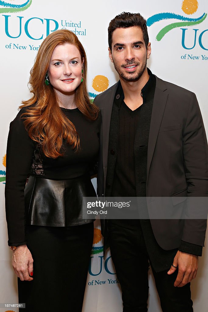 Sheila L. Lennon and Javier Gomez attend the Santa Project Party benefiting United Cerebral Palsy Of New York City at Bar Baresco on December 3, 2012 in New York City.