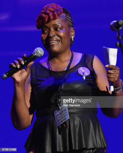 Sheila McClain with TF attends Love Letters Thistle Farms Turns 20 at the Ryman Auditorium on May 3 2017 in Nashville Tennessee